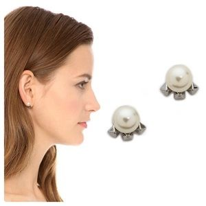 Rebecca Minkoff Pearl Stud Earrings NWOT